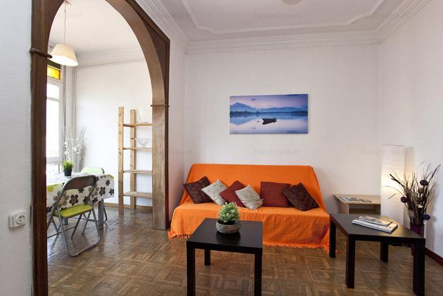 Apartamento compartido salón luminoso Barcelona Marina