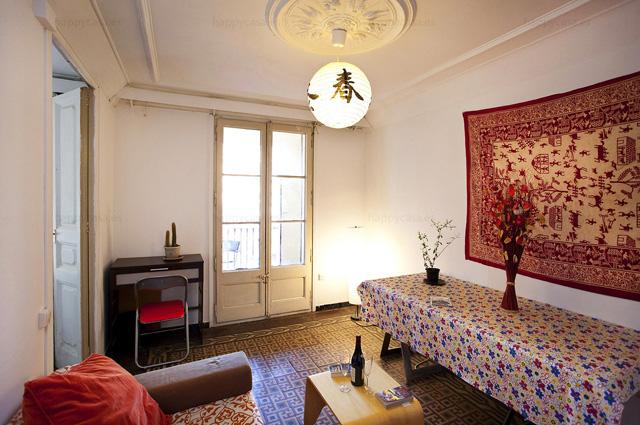 Apartamento con salón compartido habitación barata Barcelona