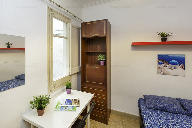Reservar habitación estudiantes Barcelona Happycasa Lesseps