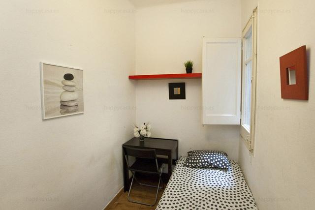 Chambre avec lit simple pour étudiants  Barcelone