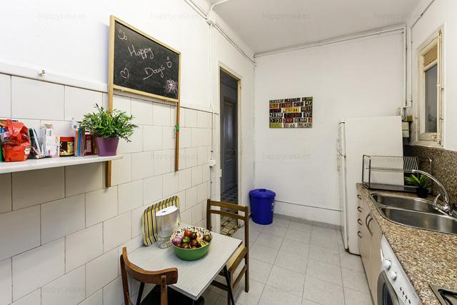 Cocina totalmente equipada en piso agradable Roger de Flor Barcelona